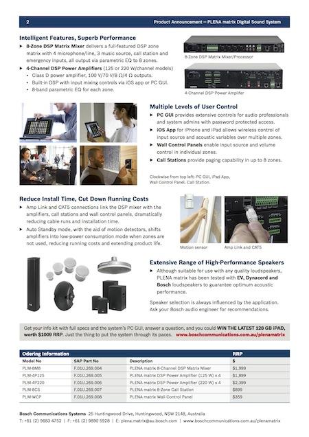 PLENA matrix Product Announcement copy